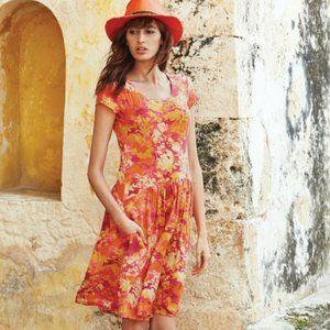Peruvian Connection Mai Tai Dress, Size Medium